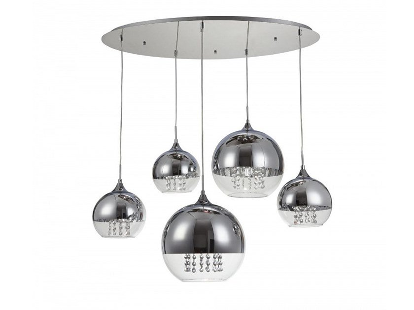 Metal pendant lamp with crystals FERMI | Pendant lamp with crystals by MAYTONI
