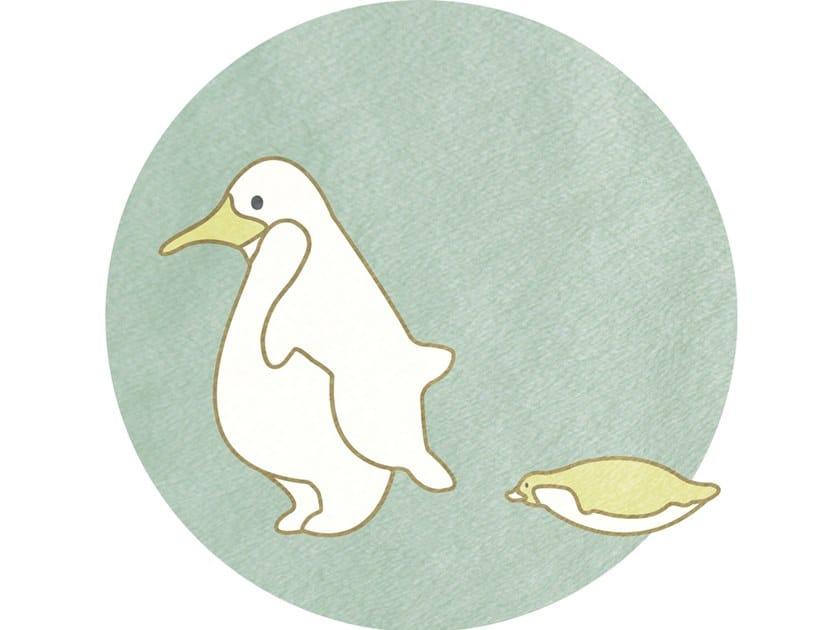 Round Cotton Kids Rug Penguins Children Collection By Un Tapis