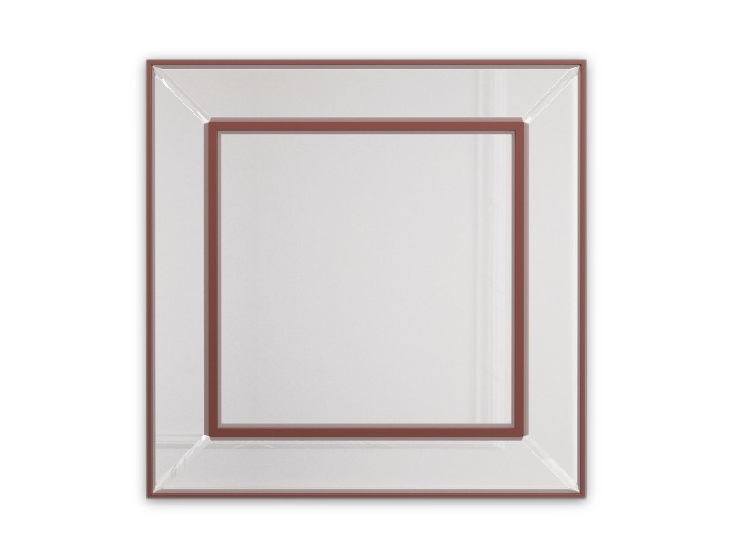 Square wall-mounted mirror PENNSYLVANIA | Square mirror by PRADDY