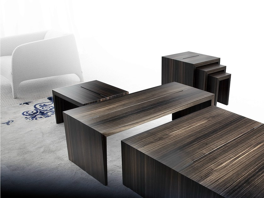 Low wooden coffee table PENSAMI | Low coffee table by ERBA ITALIA