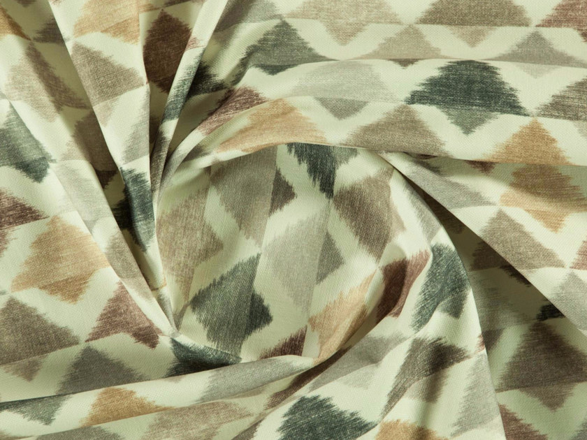 Washable printed cotton fabric with graphic pattern PENTAGON by More Fabrics