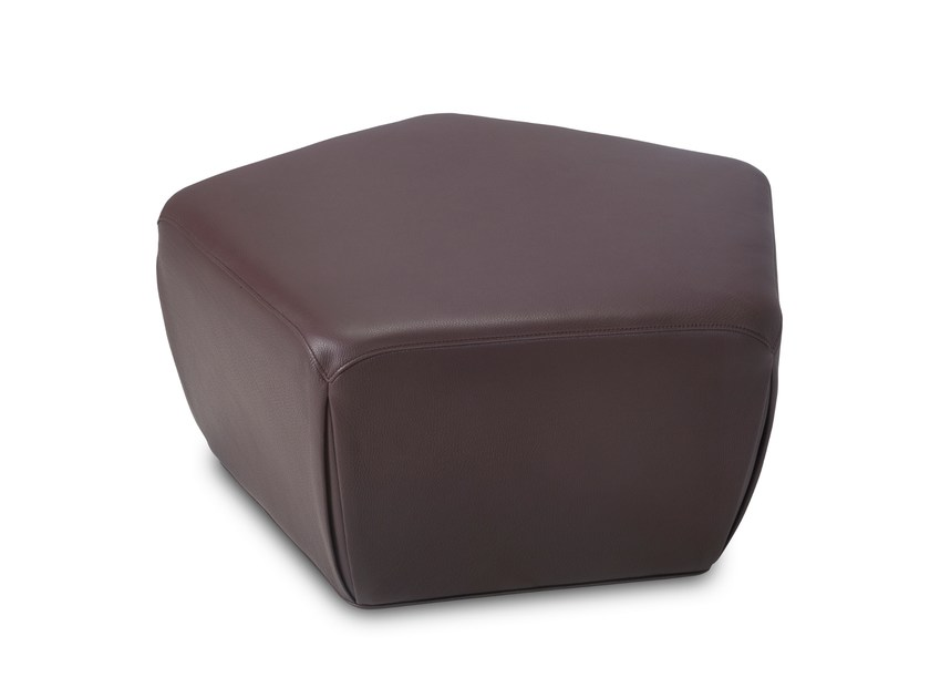 Leather pouf PENTAGONO | Leather pouf by JORI
