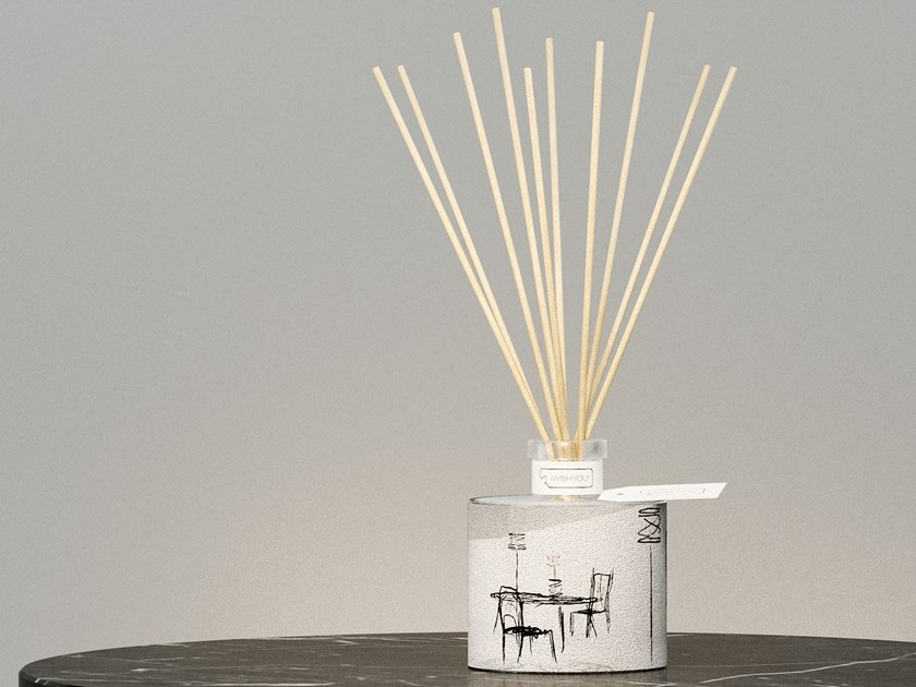 Natural stone Air freshener dispenser PENUMBRA ESSENTIAL Prestige - Melograno by IWISHYOU