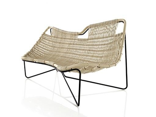Woven wicker small sofa PEPE by EXPORMIM