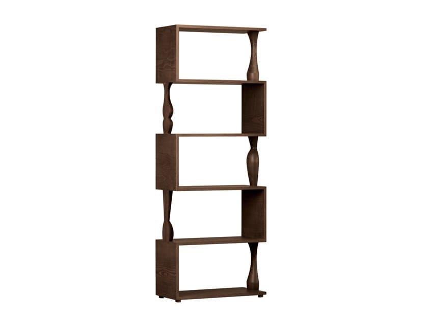 Open ash bookcase PERBACCO by Morelato