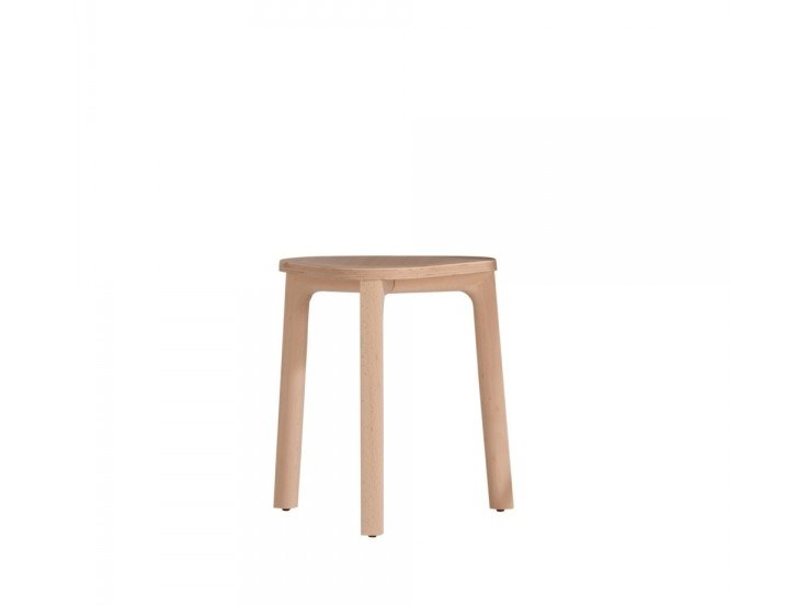 Low beech stool PERCH 536-45M by Capdell