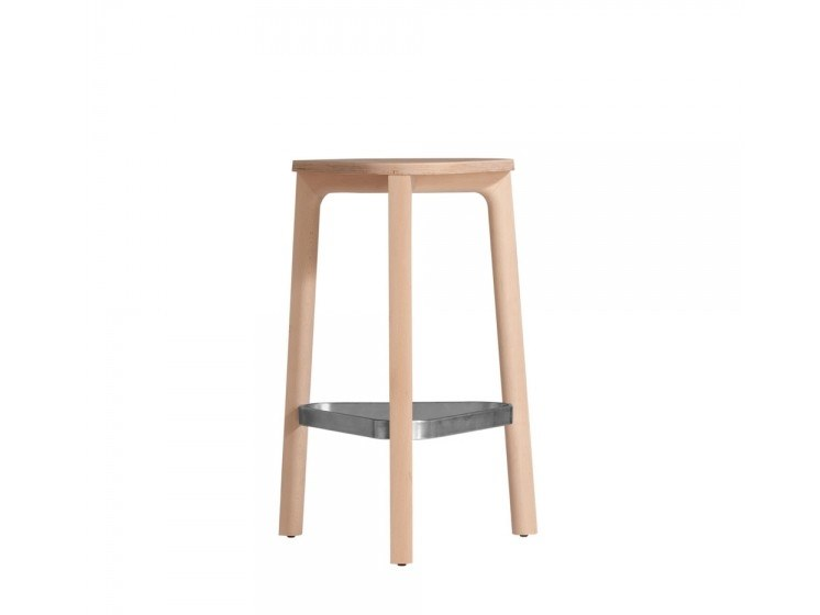 High beech stool PERCH 536-65M by Capdell