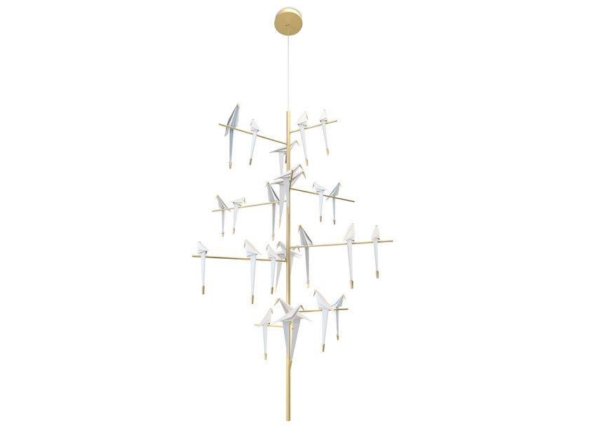 LED metal pendant lamp with dimmer PERCH LIGHT | Chandelier by moooi