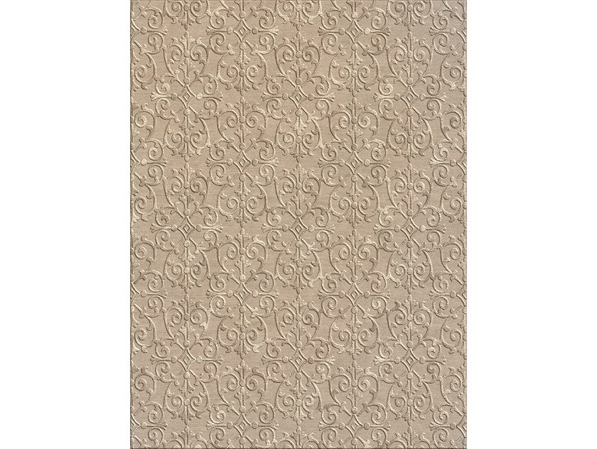 Patterned rectangular fabric rug JASMINE by Longhi