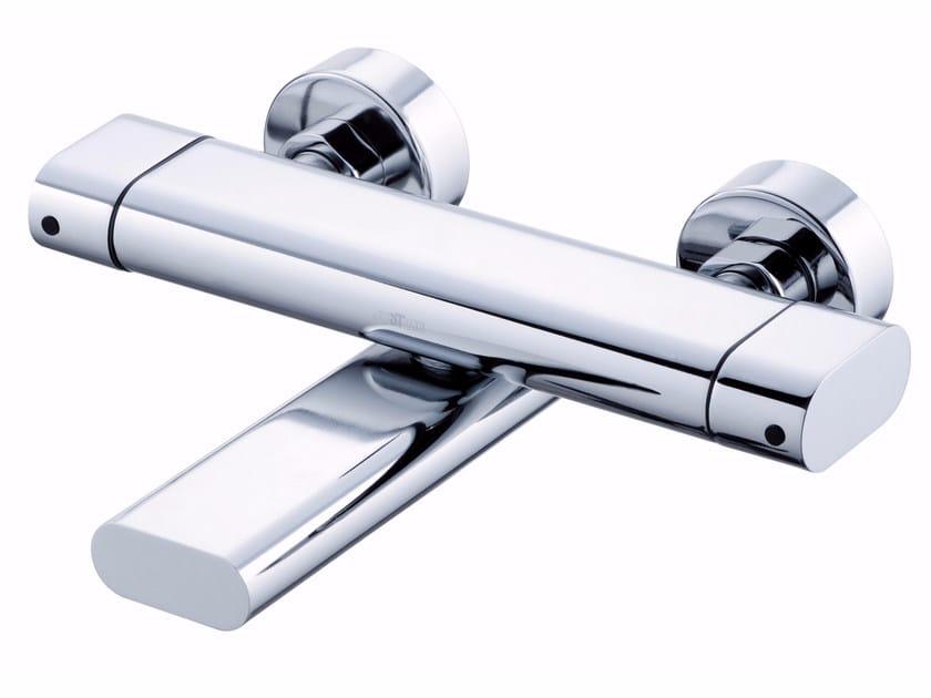 2 hole wall-mounted chromed brass bathtub mixer PERFECTO | Wall-mounted bathtub mixer by JUSTIME