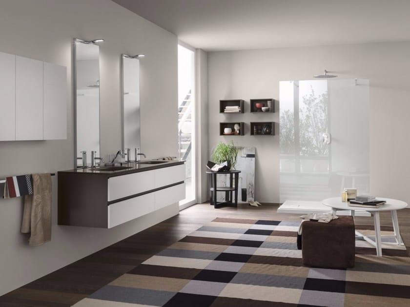 Bathroom cabinet / vanity unit PERFETTO - Composition 3 by INDA®