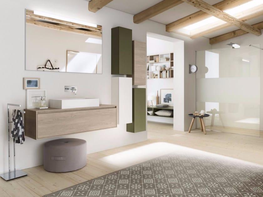 Sistema bagno componibile PERFETTO+ - Composizione 3 by INDA®