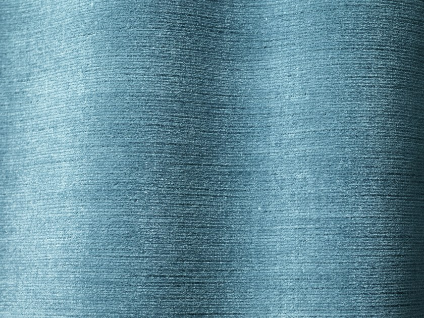 Solid-color velvet upholstery fabric PERGAMENA by Dedar