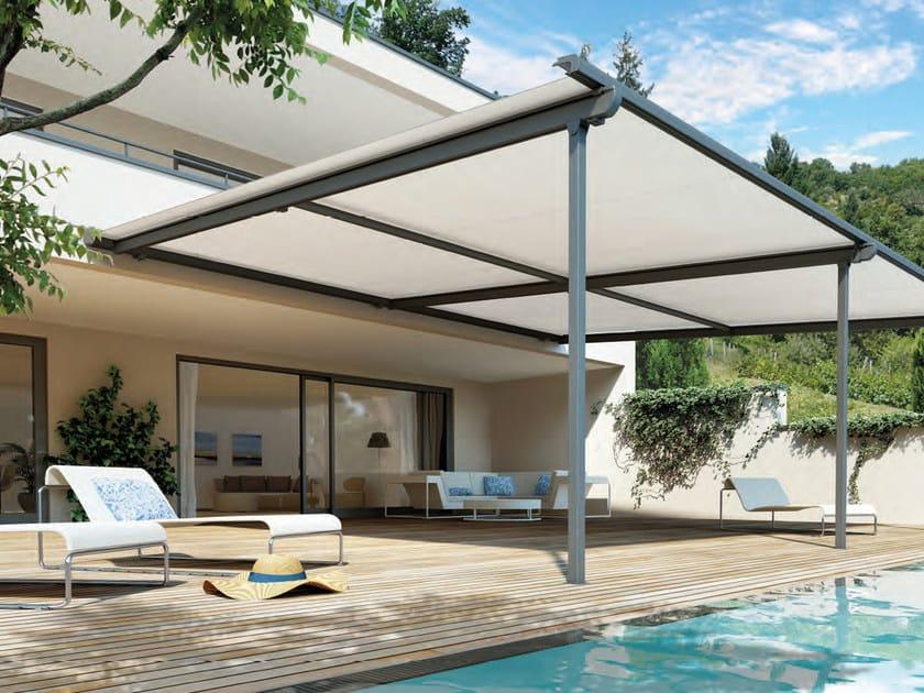 Anbau Terrassenüberdachung mit Faltdach PERGOLINO Kollektion ...