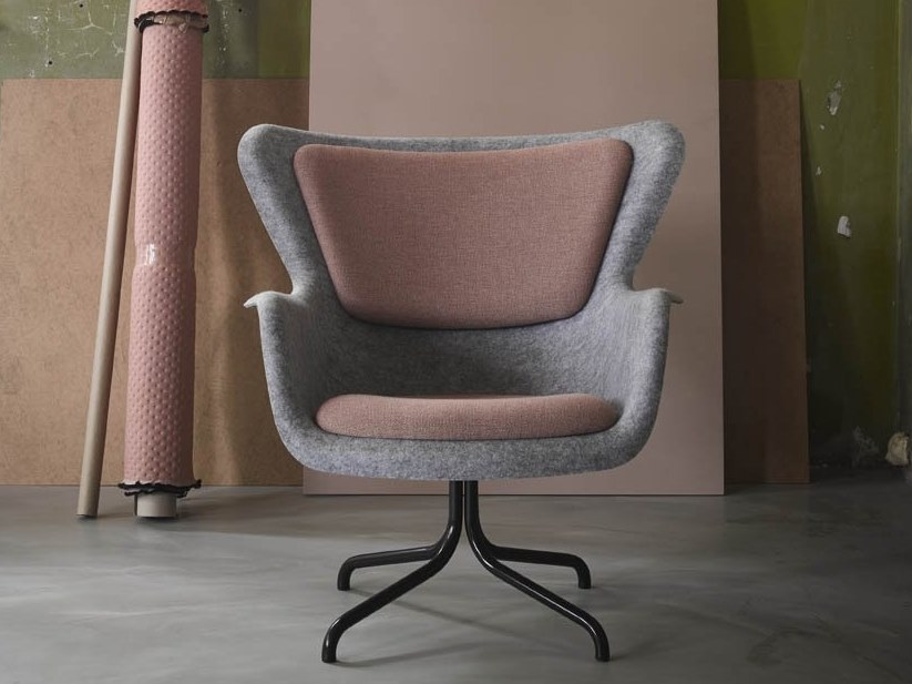 PET easy chair with armrests PET   Easy chair by De Machinekamer