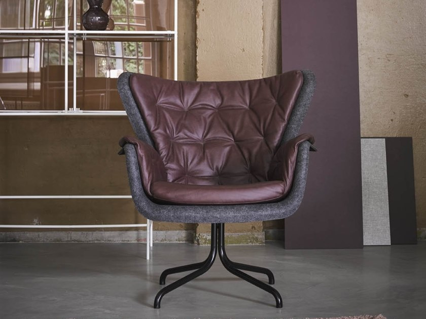 Tufted PET easy chair with armrests PET | Tufted easy chair by De Machinekamer