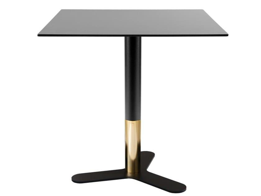 Square iron dining table PETALI-BI | Square table by Vela Arredamenti