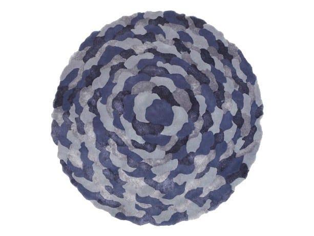 Handmade round rug PETALS ROUND by Deirdre Dyson
