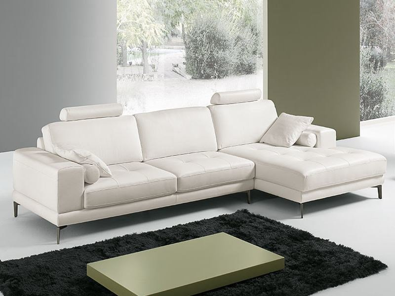 Beau Leather Sofa With Chaise Longue PETER | Leather Sofa By Franco Ferri Italia