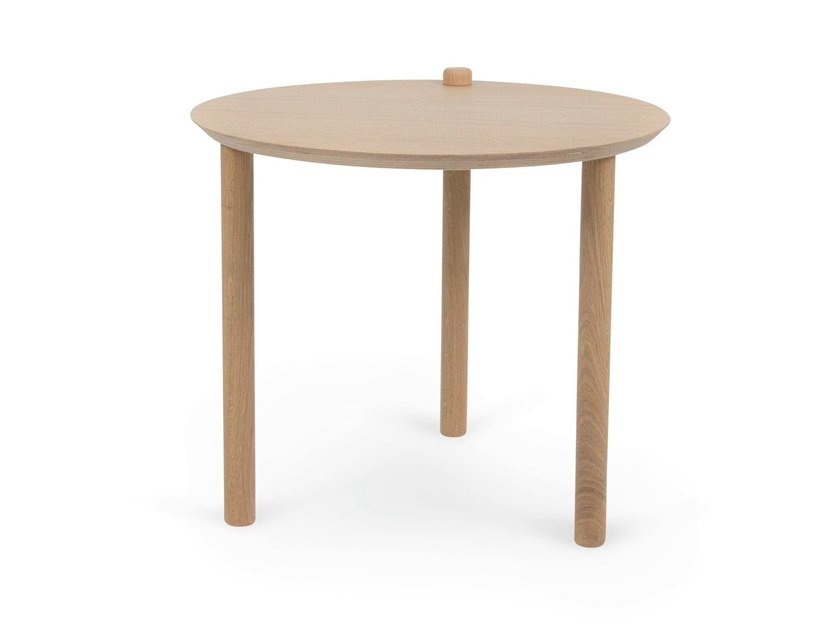 Round wooden coffee table THÉO by Dizy