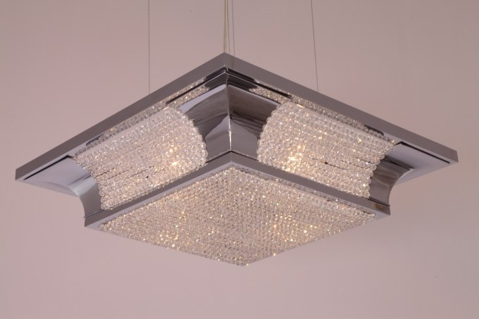 Direct light handmade crystal chandelier PETITOT CRYSTAL IV | Chandelier by Patinas Lighting