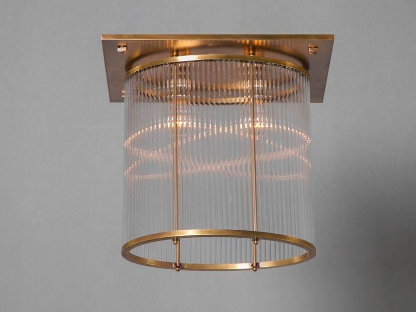 Lampada da soffitto a luce diretta fatta a mano in ottone PETITOT I | Lampada da soffitto by Patinas Lighting