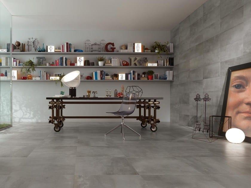 Full-body porcelain stoneware wall/floor tiles PETITOT ZINC by NOVOCERAM