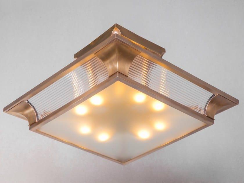 Lampada da soffitto a luce diretta fatta a mano in ottone PETITOT V | Lampada da soffitto by Patinas Lighting