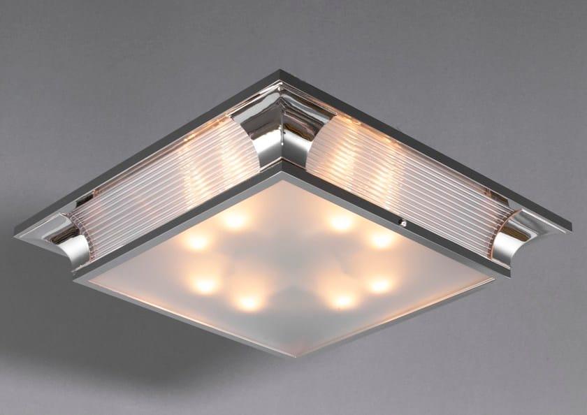 Direct light handmade nickel ceiling lamp PETITOT VII | Ceiling lamp by Patinas Lighting