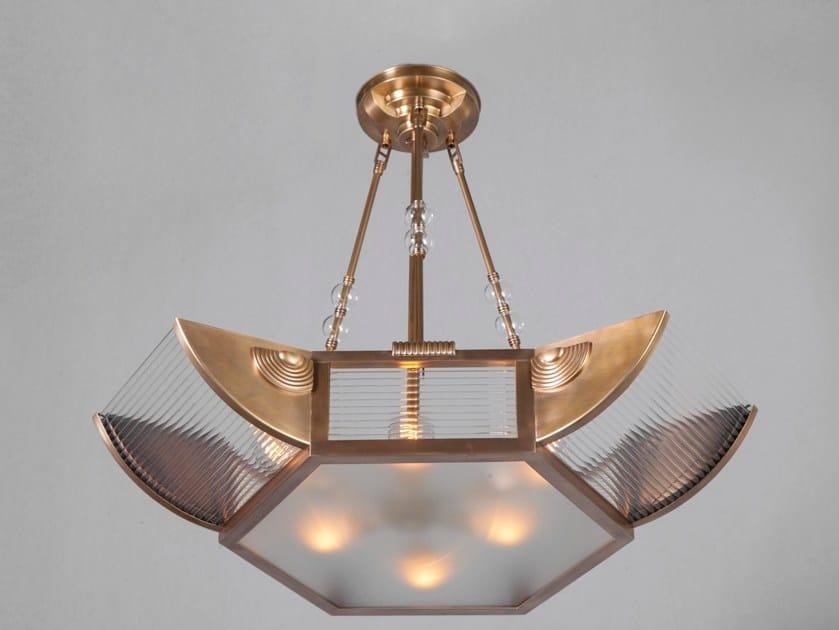 Direct light handmade brass chandelier PETITOT VIII   Chandelier by Patinas Lighting