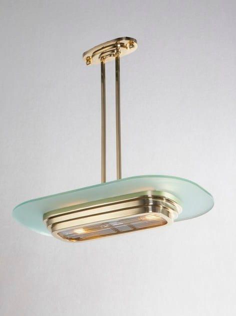 Direct light handmade brass pendant lamp PETITOT VIII | Pendant lamp by Patinas Lighting