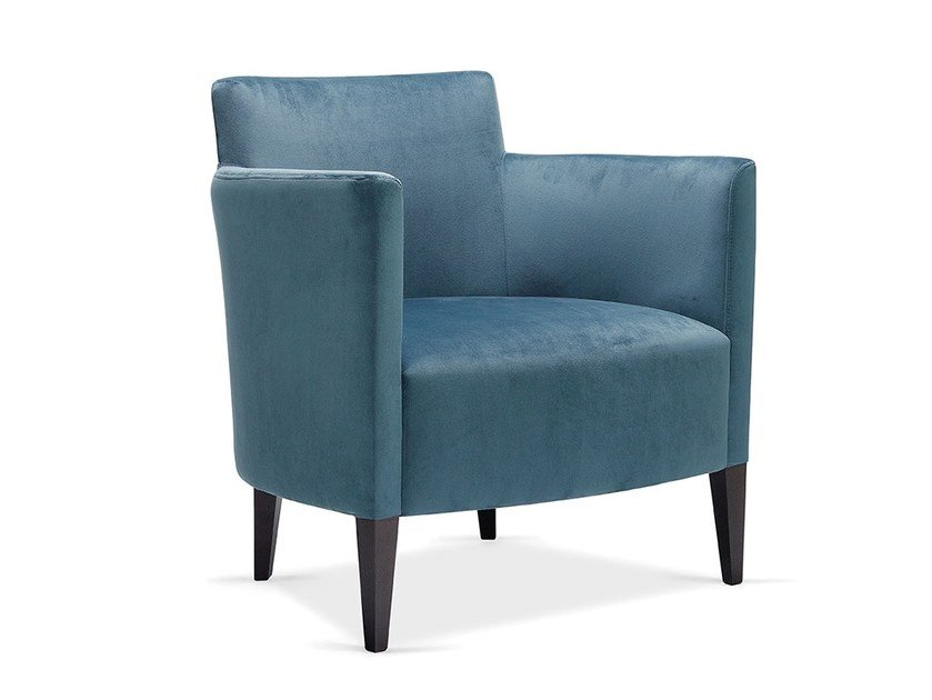 Fabric armchair with armrests PETRA MASS by Fenabel