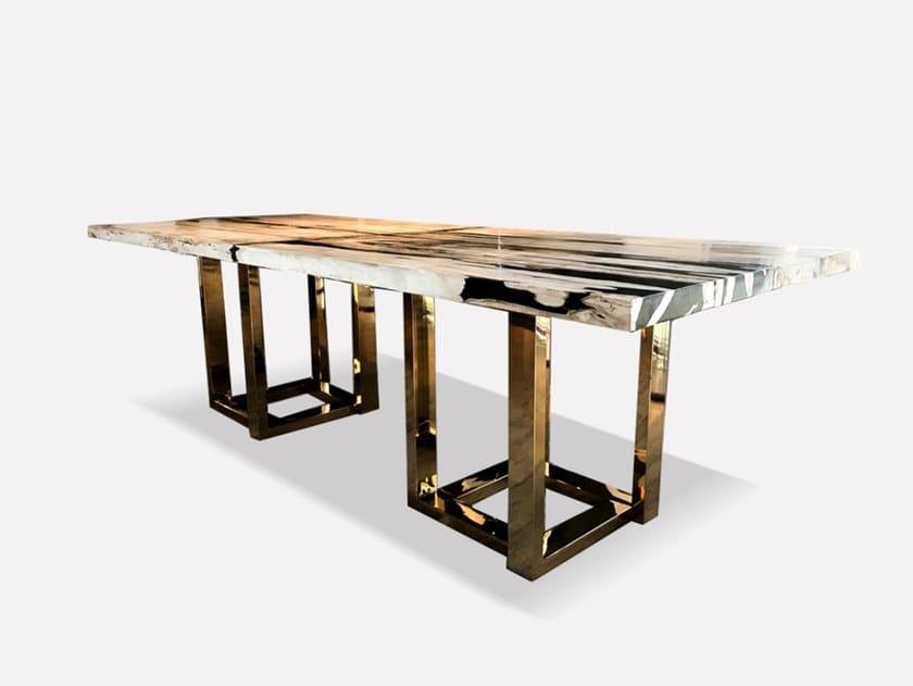 Rectangular wooden dining table PETRA | Rectangular table by MORADA