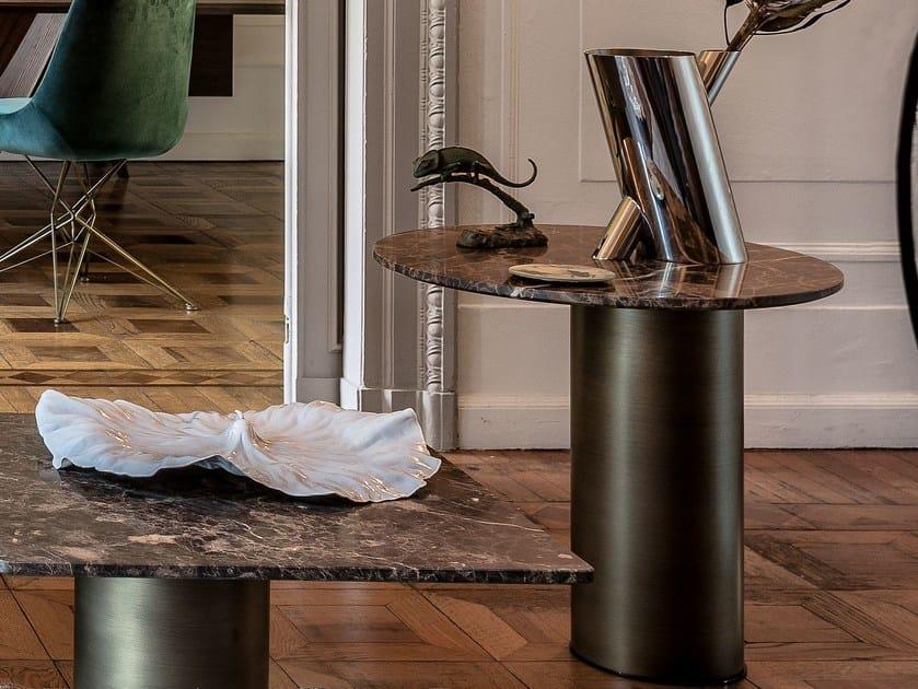 Tavolino rotondo in marmo PETRA | Tavolino rotondo by Arketipo