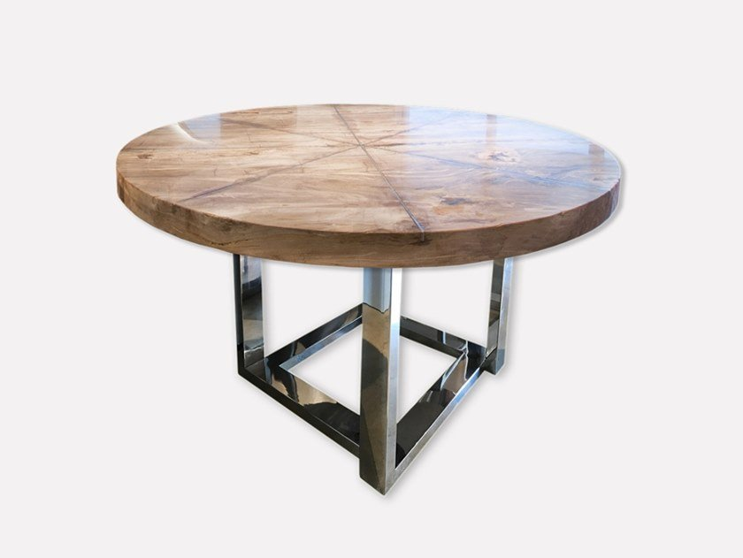 Round wooden dining table PETRA | Round table by MORADA