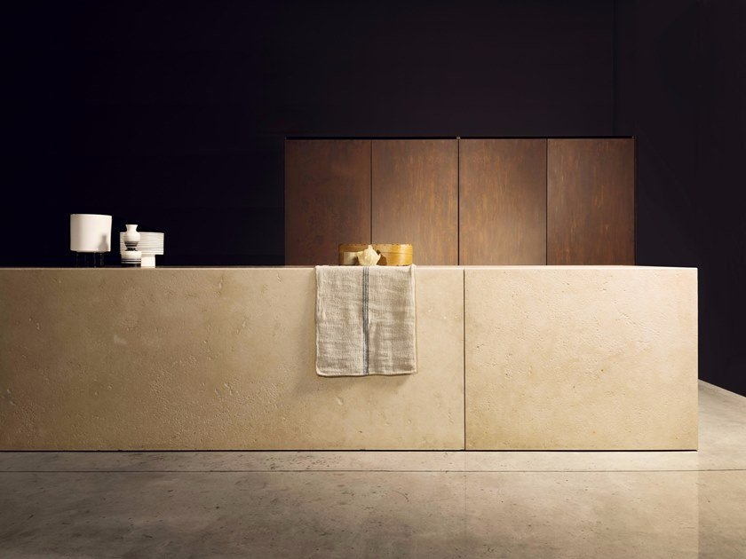 Hideaway kitchen with island PETRA by TM Italia Cucine