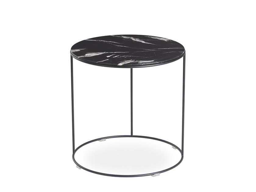 Round marble side table PETTY | Marble coffee table by B&T Design