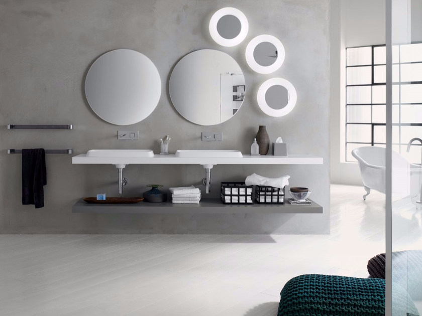 Laminate bathroom cabinet / vanity unit PFS - Composizione 1 by INDA®