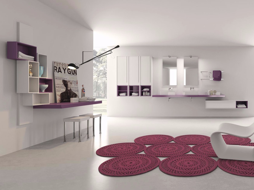 Laminate bathroom cabinet / vanity unit PFS - Composizione 3 by INDA®