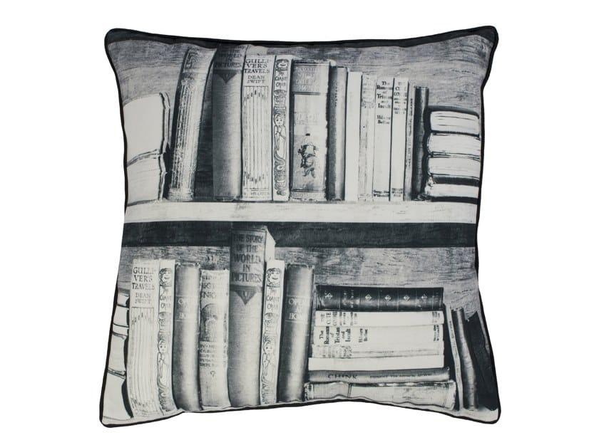 Square fabric cushion PHOTOCOPY BOOKSHELF | Cushion by Mineheart