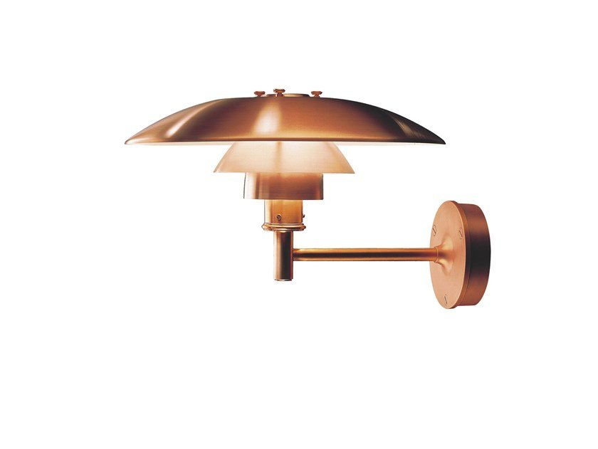 Copper Outdoor wall lamp PH | Outdoor wall lamp by Louis Poulsen