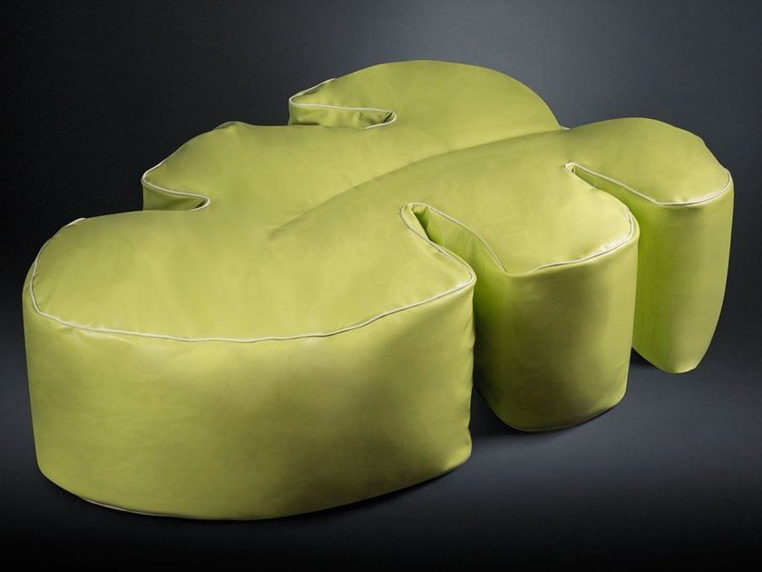 Leather garden pouf PHILO by VGnewtrend