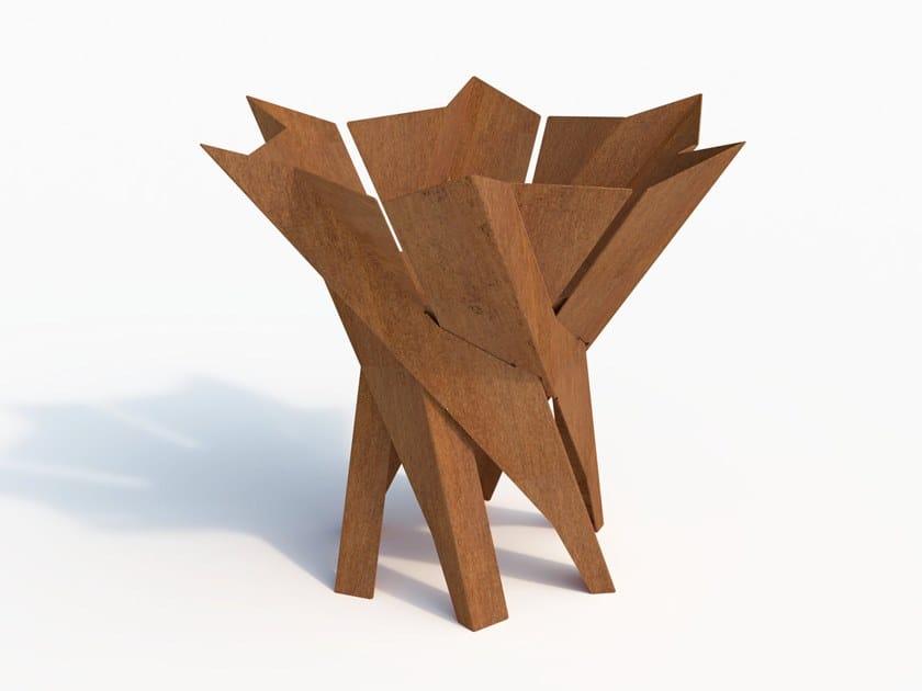 Carbon steel fire baskets PHOENIX FLOWER | Carbon steel fire baskets by Arpe studio