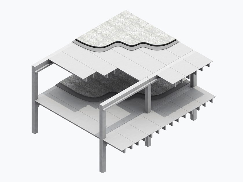 Prefabricated reinforced concrete slab PI GRECO by MANINI PREFABBRICATI