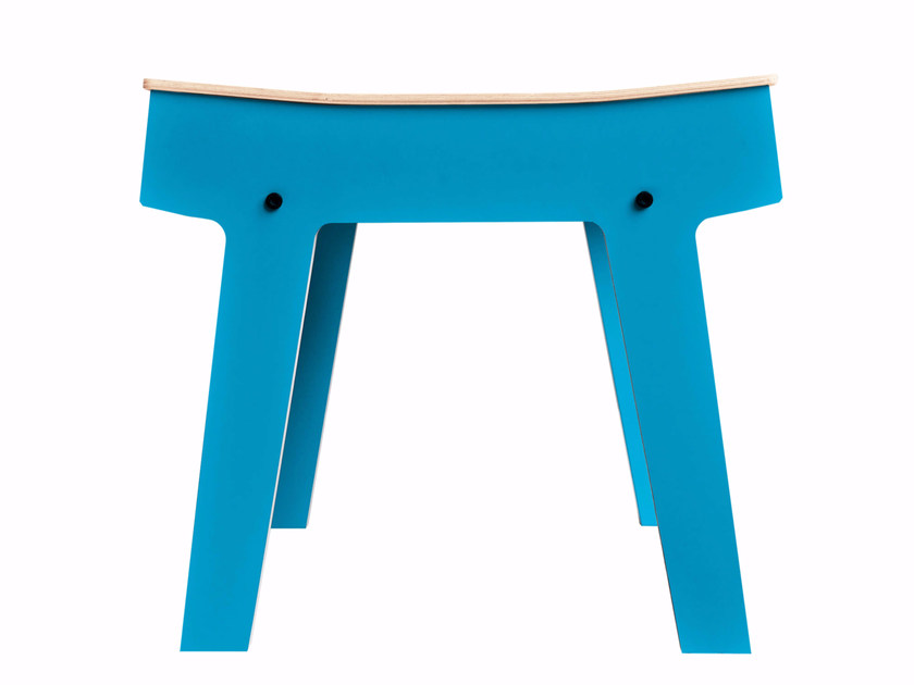 Low coffee table with integrated magazine rack PI STOOL by rform