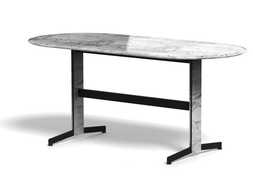 Oval marble table PIANA MARBLE L by arrmet