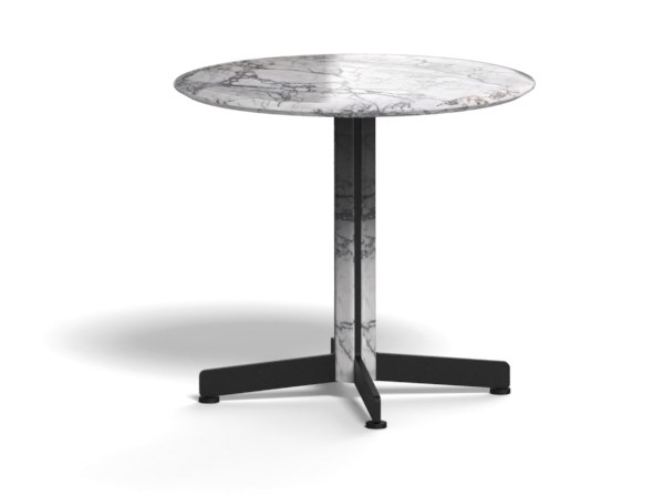Round marble coffee table with 4-star base PIANA MARBLE S by arrmet