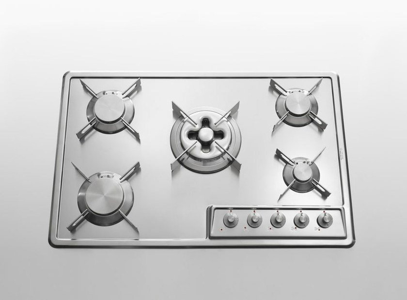 Gas induction built-in stainless steel hob PIANI DI COTTURA INCASSO INOX | Stainless steel hob by ALPES-INOX
