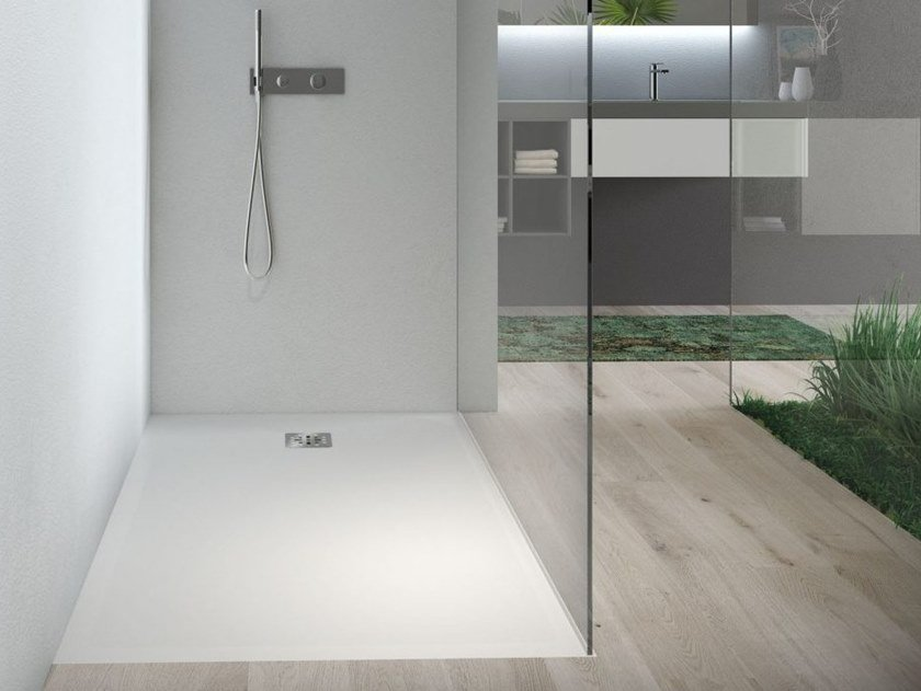Flush fitting built-in custom shower tray PIANO | Flush fitting shower tray by DISENIA
