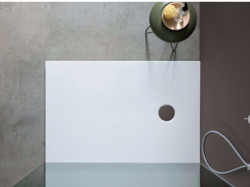 Rectangular ceramic shower tray PIANO by Nic Design